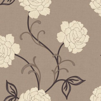1000 images about living room on pinterest floral for Brown and cream living room wallpaper