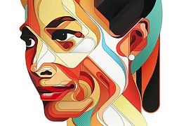 Faces: Digital Portraits by Charles Williams