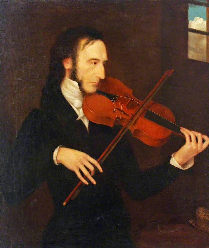 Niccolò Paganini by Daniel Maclise (1831)