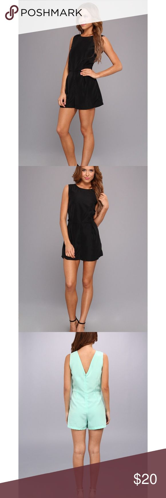 Jack BB Dakota Women's Black Ester Romper Jack BB Dakota Women's Black Ester Romper  Size 4  Roomy fit, may fit size 4-6. In great condition, only worn once, looks like new.   Willing to negotiate on item. Jack by BB Dakota Pants Jumpsuits & Rompers