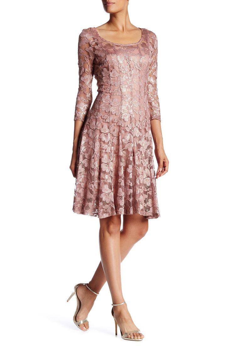 3/4 Length Sleeve Lace Fit and Flare Dress by CHETTA B on @nordstrom_rack