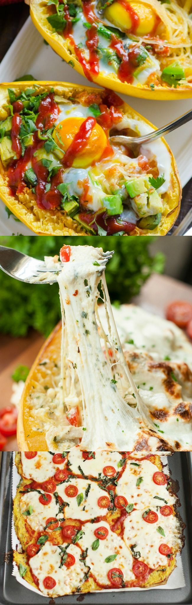 10 slimming yet satisfying spaghetti squash recipes -- LOVE these!