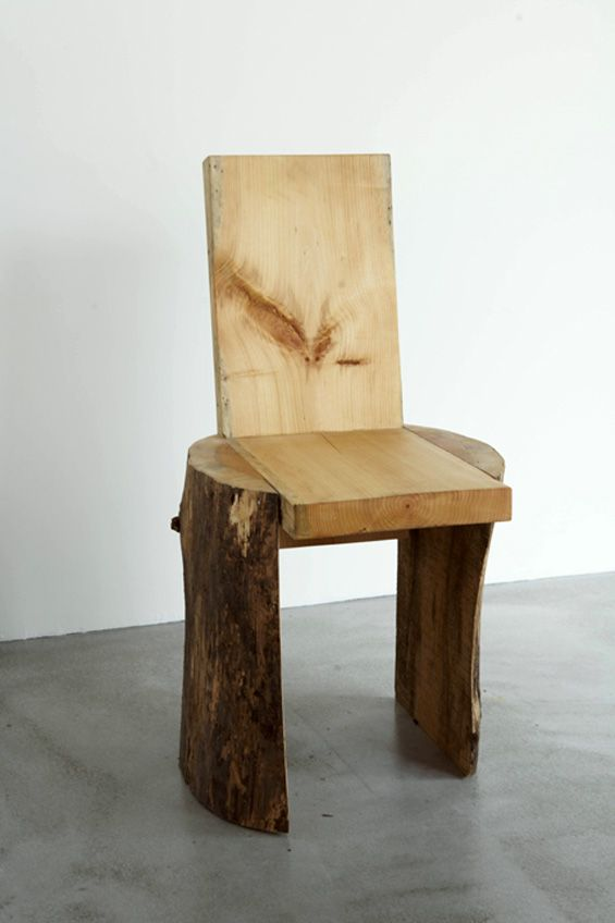 Note: Could be made from one log with wood to spare! Try a child size stool, then chair as a prototype. Explore joinery options.