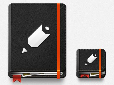 Dribbble - Random Notebook Icon 2 by Claudio Guglieri