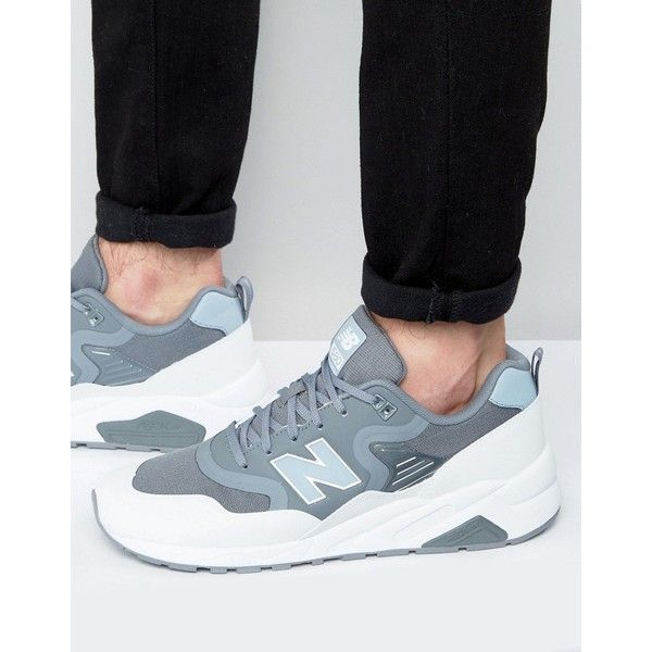 New Balance 580 Trainers In Grey MRT580TF (395 SAR) ❤ liked on Polyvore featuring men's fashion, men's shoes, men's sneakers, grey, mens gray dress shoes, new balance mens sneakers, mens grey shoes, mens grey sneakers and new balance mens shoes