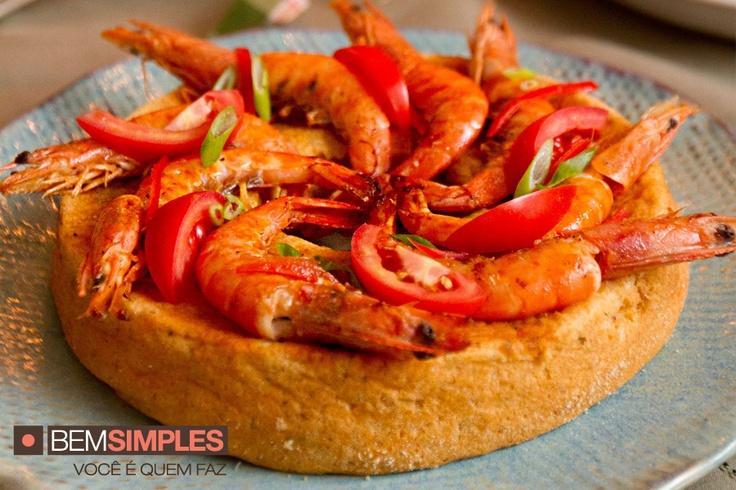 Pudim de camarão, por Carla Pernambuco. http://www.bemsimples.com/br/receitas/78110-pudim-de-camarao