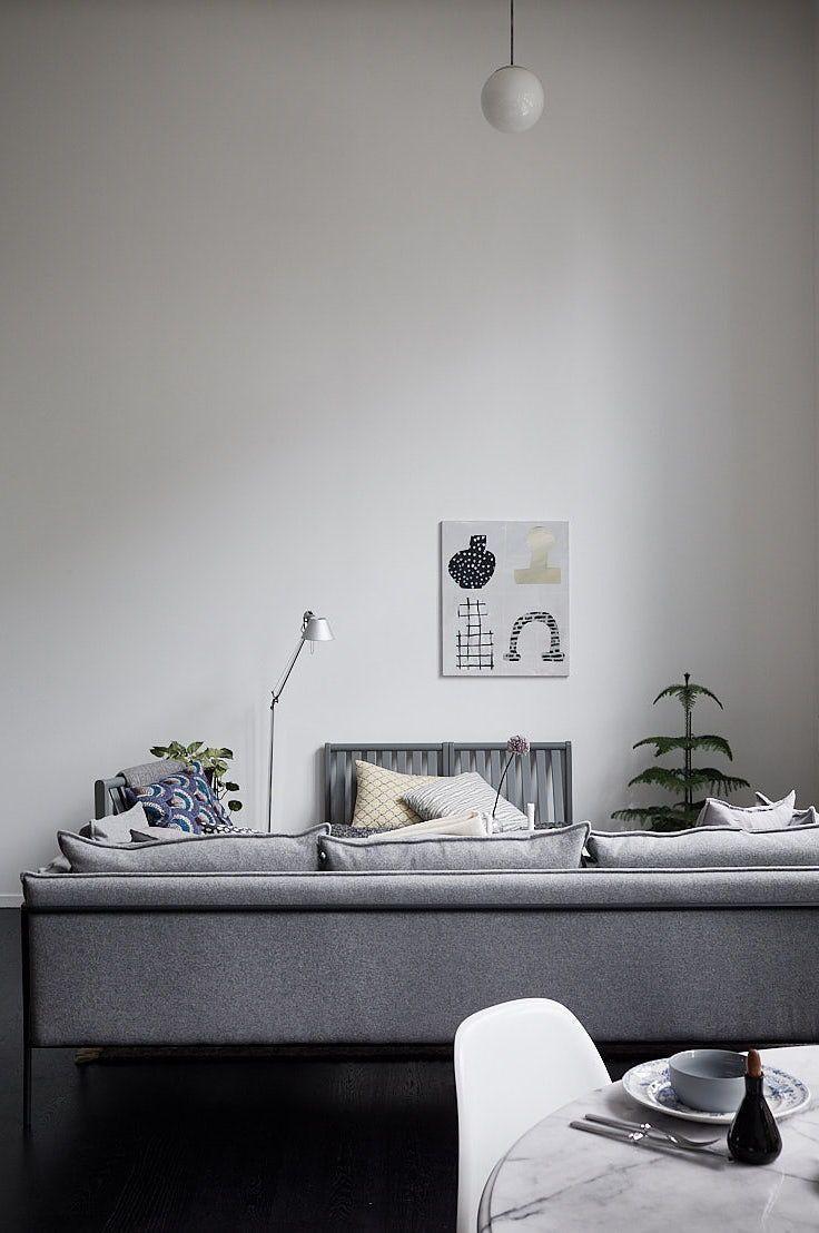 Living Room : Industrial Style Duplex Home Via Coco Lapine Design Blog