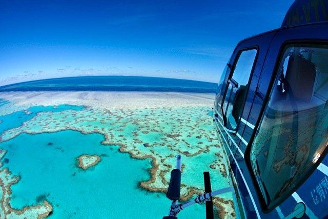 Great Barrier Reef, Far North Queensland #helicopter #reef #aerial #paradise
