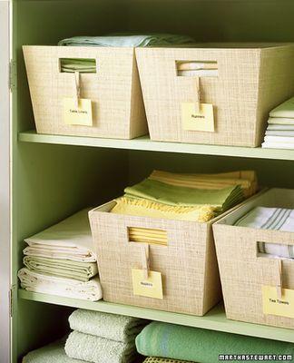 closet organizationLinens Cupboards, Ideas, Linens Closets Organic, Clothespins Crafts, Closet Organization, Closets Storage, Storage Bins, Linen Closets, Laundry Room