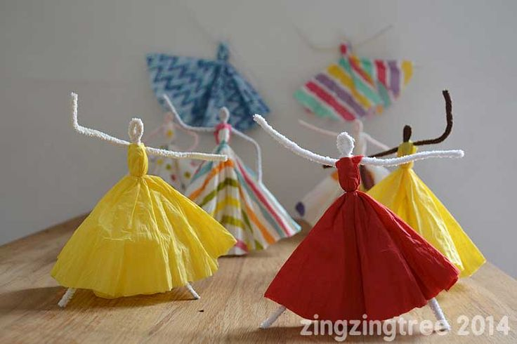 DIY Dancing Pipe Cleaner Princesses