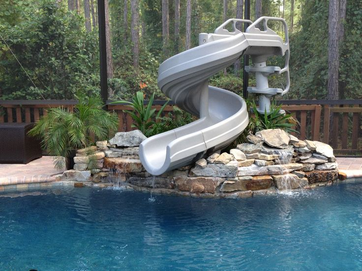 Swimming Pool Designs With Slides find this pin and more on swimming pools 6 G Force 2 Slide Innovative Pools Inc Saint Johns Florida