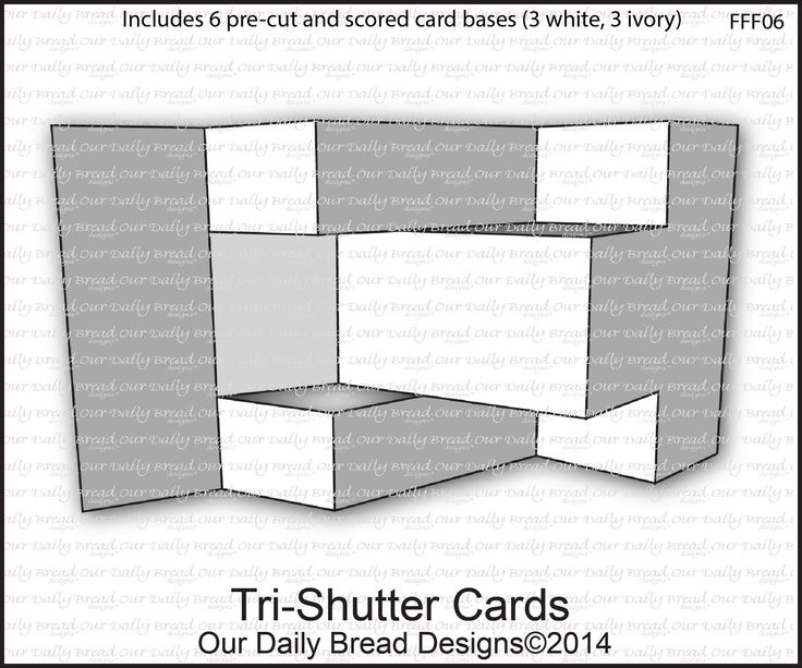 Best Tri Fold Shutter Cards Images On   Folded Cards