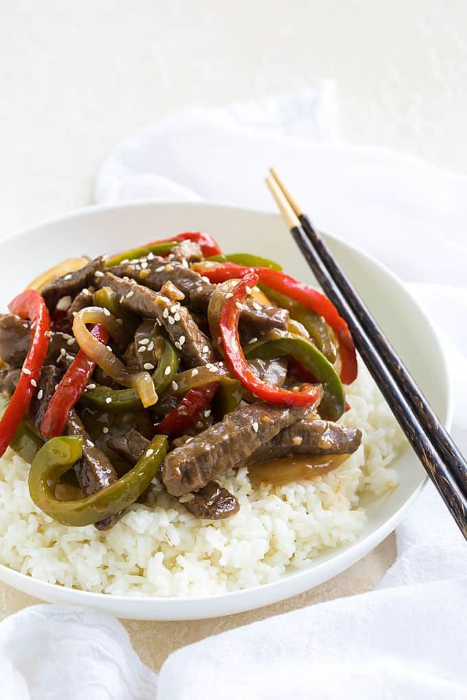 chinese pepper steak  recipe in 2020  stuffed peppers