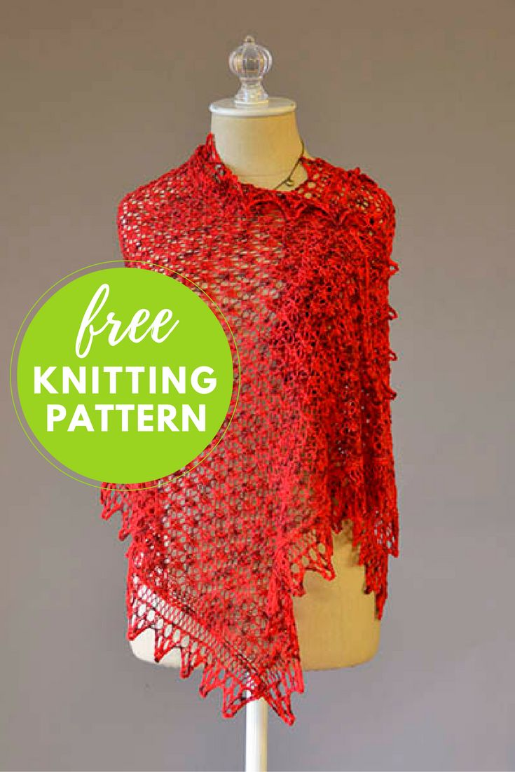 213 best Shawl and Wrap Knitting Patterns images on Pinterest | Knit ...
