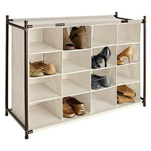Organizing your shoes in a space-saving cubby: 16 Section shoe cubby