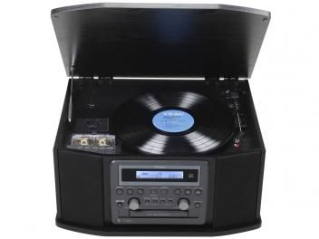 Vitrola TEAC GF-550 CD Player e Fita Cassete - Entrada Auxiliar e USB Rádio AM/FM