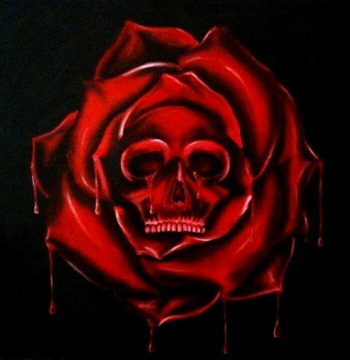 Skull rose ..something like mine