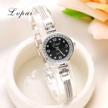 Lvpai Brand Bracelet Watches For Women Luxury Crystal Silver Quartz Wristwatches…