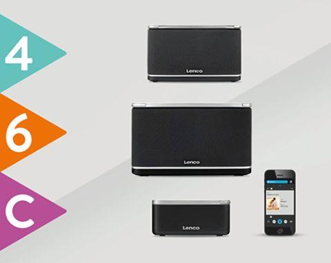 A gama PlayLink da Lenco usa esta plataforma para que possa desfrutar de uma experiência musical nova: www.lencoplay.com