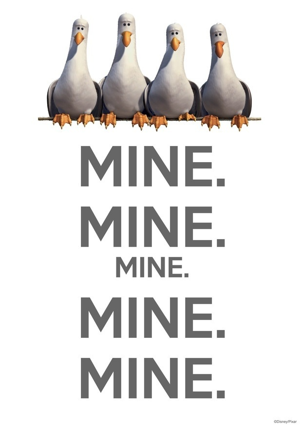 best disney finding nemo dory images disney nemo seagulls mine mine mine