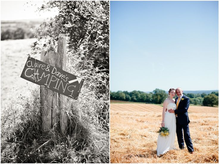 Claire and Dave's yellow & glamping wedding | Wedding photography, Sussex | Swallows Oast | Eddie Judd Photography