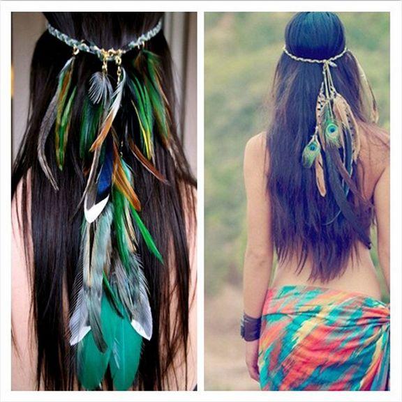 Bird Feather Headband Native American