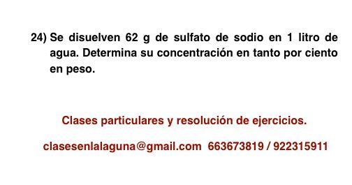 Ejercicio propuesto 24, porcentaje en masa (disoluciones)