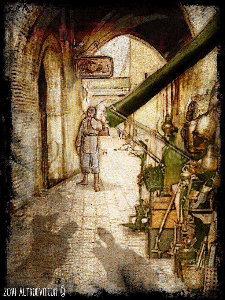 """Un brutto risveglio per Gillean Conroy Digital painting per """"Il Giorno del Drago"""""""