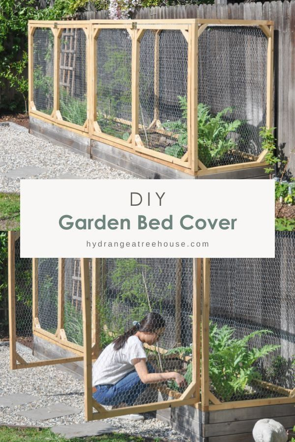 Diy Garden Bed Cover With Chicken Wire How To Protect Your Garden From Animals In 2020 Diy Garden Bed Raised Garden Beds Diy Diy Raised Garden