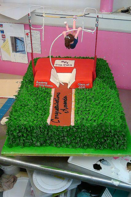 Pole Vaulting cake http://cakes.anniesartbook.com/2011/06/craziest-cake-youve-ever-done.html