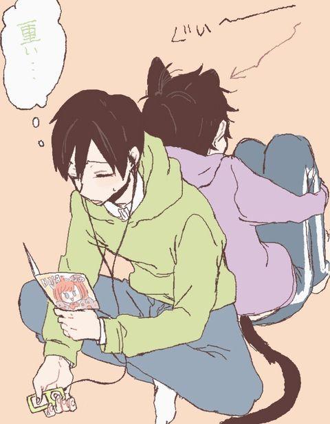 Choro to Ichi: *you're heavy...*