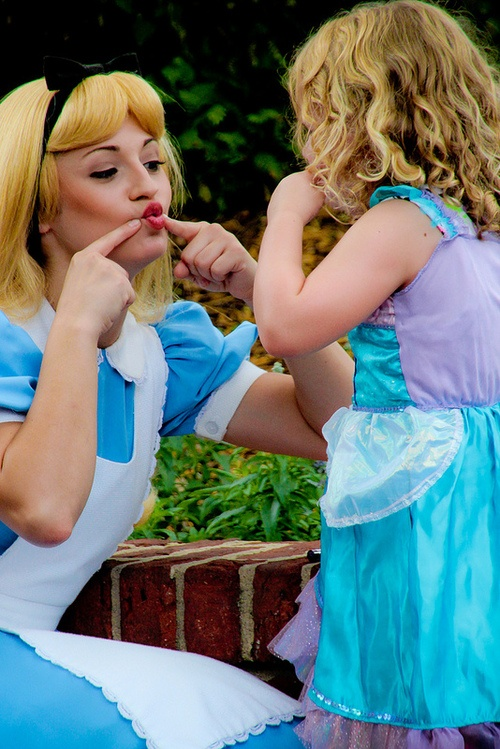 Alice Teaching A Little Princess How To Make A Pout Y Face
