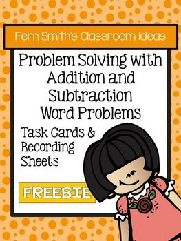 FREE Problem Solving with Addition and Subtraction Task Cards No Common Core #TPT #Free