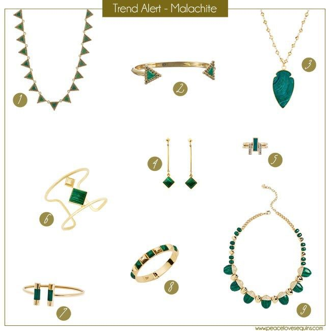 Malachite Jewelry Trend Alert