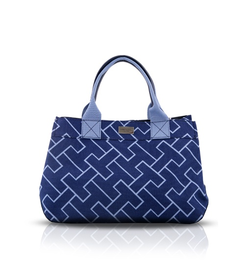 Tommy Hilfiger Blue Tote on glamouronthego.co.uk