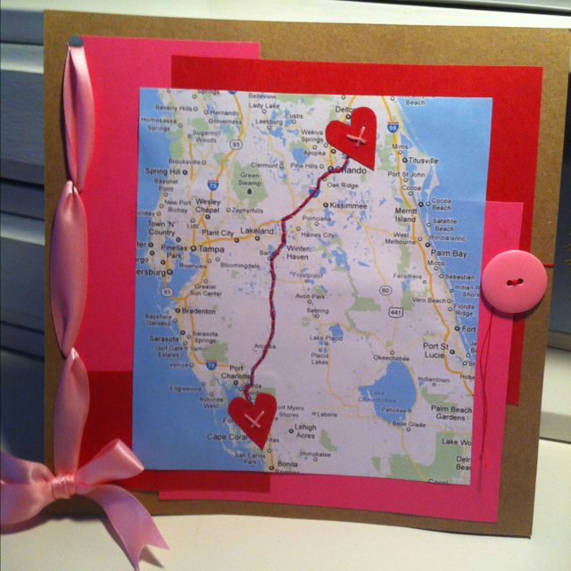 Valentine's day card for long distance relationship.