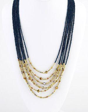 Multi-strand seed bead necklace, Island Designs by Harry Haslett   . . . .   ღTrish W ~ http://www.pinterest.com/trishw/  . . . .  #handmade #jewelry
