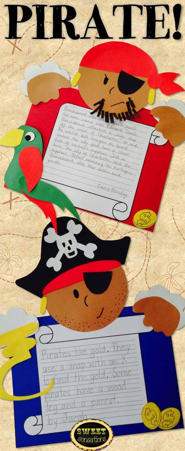 LOVE LOVE LOVE this!!  Going to use it for my ocean theme - each pirate can look different and can draw a treasure map and write directions on how to find the gold!
