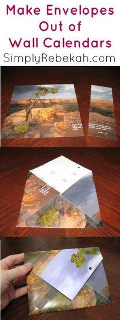 How to Make Envelopes Out of Wall Calendars | SimplyRebekah.com