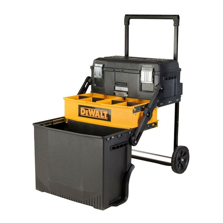 Camp Kitchen- DEWALT 16.33 in. 88 lbs. Rolling Cantilever Tool Box in Black- for chuck box- it'll hold almost everything we need for our camp kitchen. DWST20880 - The Home Depot