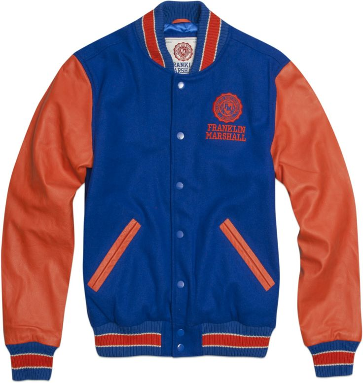 Letterman jacket in wool and leather - Jackets - MAN - Franklin & Marshall - Franklin & Marshall