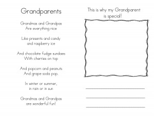 Grandparent's Day card/book