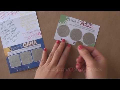Carta RASPA // idea regalo - Facilisima:) y es un buen regalo, para cualquier ocasion