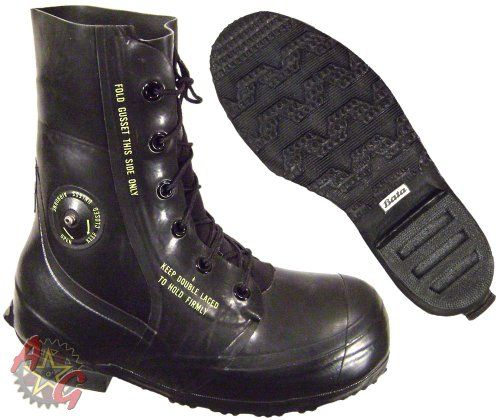 """Combat Boot, """"Mickey Mouse"""" Extreme Cold Weather Boots, Waterproof Rubber, Genuine U.S. Military Issue (6R) U.S. Military Contractors http://www.amazon.com/dp/B00G5JLYM8/ref=cm_sw_r_pi_dp_-MCgub1QPAPZS"""
