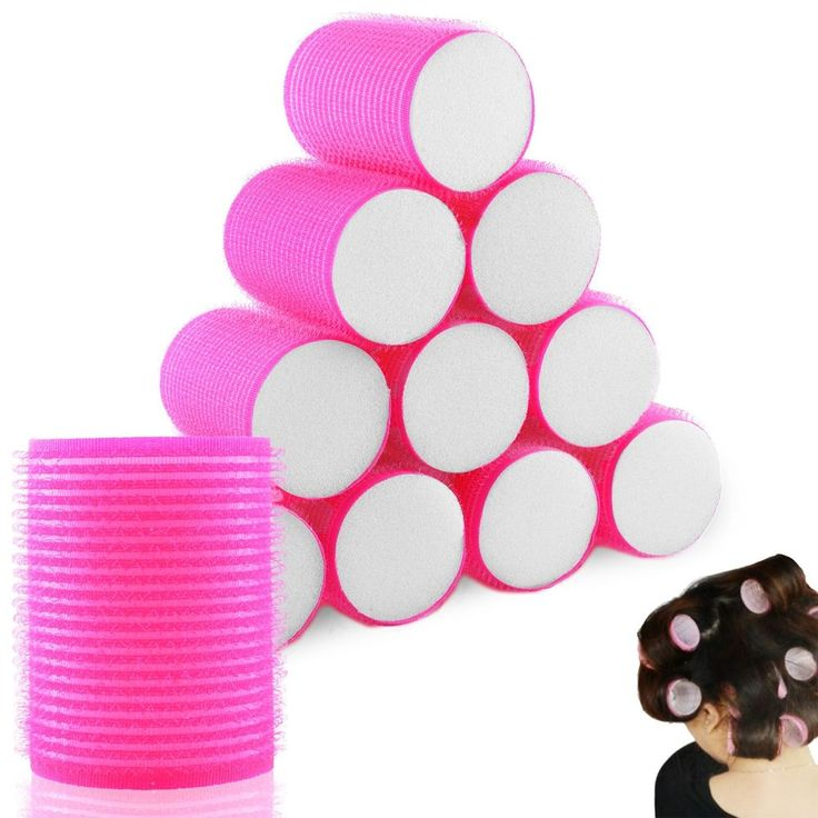 10 x PINK SOFT VELCRO HAIR ROLLERS PERFECT FOR SLEEPING IN CURLING ACCESSORY in Health & Beauty, Hair Care & Styling, Rollers & Curlers | eBay