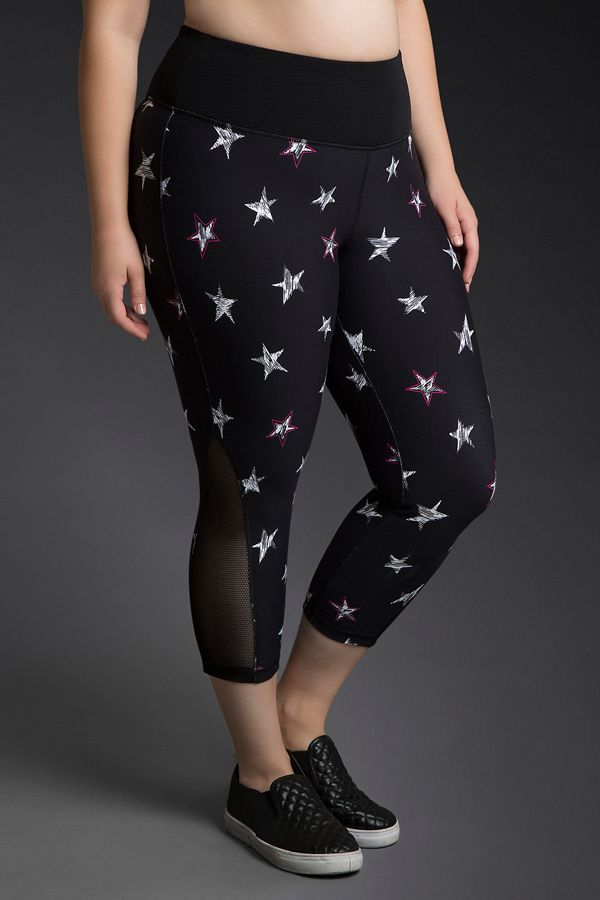 The Best Plus-Size Activewear To Up Your Workout Game #refinery29  http://www.refinery29.com/plus-size-workout-clothes-2016#slide-19  What better way to feel like a star than by wearing them on your pants?Torrid Active Star Print Mesh Leggings, $48.50, available at Torrid....