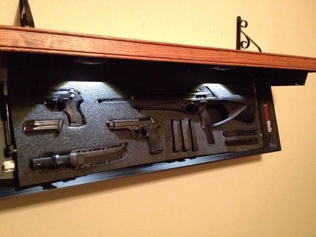 Nice Tactical Wall Shelf Set Up Guns Ammo And Other