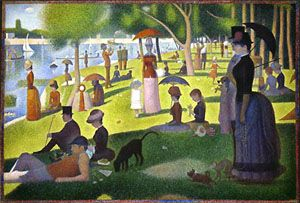 1886: Le dimanche d'été à la grande Jatte, Georges SEURAT - Pointillisme