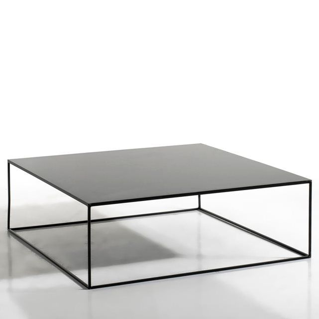 La table basse en métal Romy. La finesse de son piètement donne à cette table basse une ligne pure et graphique, qui s'intégrera aisément dans tous les styles d'intérieur. Caractéristiques : - En métal, finition époxy. Dimensions : - L100 x H33 x P100 cm.- Plateau épaisseur 14 mmDimensions et poids du colis : L115,5 x H40,5 x P110 cm, 46,5 kg.Livraison chez vous :Votre table basse sera livrée chez vous sur rendez-vous, même à l'étage !Attention ! Veuillez vérifier que les ouvertures (portes…