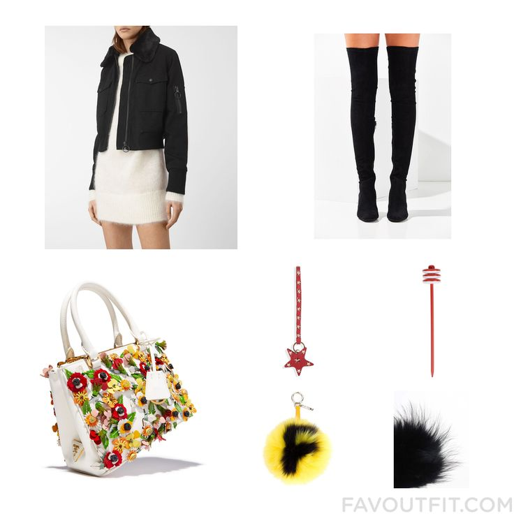 Closet Advices Including Allsaints Jacket Over Knee Boots Prada Tote Bag And Red Valentino From January 2017 #outfit #look